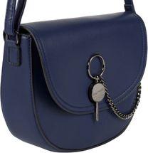 styleBREAKER Damen halbrunde Saddle Bag Umhängetasche einfarbig, Stift Verschluss und Kette, Schultertasche, Tasche 02012354 – Bild 20