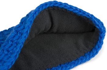 styleBREAKER Damen breites Grob gehäkeltes Stirnband einfarbig, Thermo Fleece Futter, Tube Schal, Winter Headband 04026050 – Bild 3
