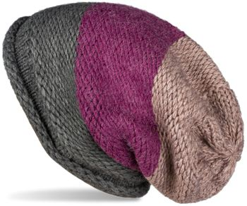 styleBREAKER Unisex Strick Loop Schal und Mütze Set mit Streifen Muster, Strickschal mit Beanie Strickmütze, Winter 01018215