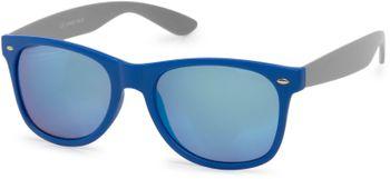 styleBREAKER Nerd Sonnenbrille mit verspiegelten oder getönten Gläsern, klassisches Retro Design, Unisex 09020039 – Bild 3