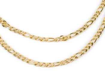 styleBREAKER Damen Edelstahl Layer Halskette 2-reihig, Großgliedrige Figaro Kette, Kette, Schmuck, Chain Optik 05030070