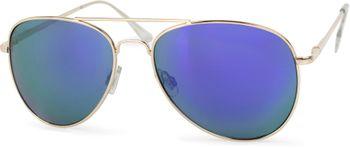styleBREAKER mirrorred Sunglasses, tinted Aviator Pilot Glasses with spring hinge, Unisex 09020037 – Bild 18