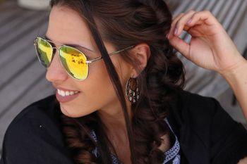 styleBREAKER Pilotenbrille Sonnenbrille getönte oder verspiegelte Gläser mit Federscharnier, Unisex 09020037