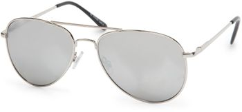 styleBREAKER Sonnenbrille verspiegelt, Pilotenbrille getönt mit Federscharnier, Unisex 09020037 – Bild 8