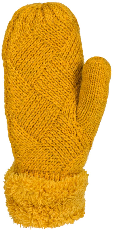 styleBREAKER Damen warme Winter Strick F/äustlinge Strickhandschuhe 09010031 Handschuhe mit Rauten Muster Thermo Fleece