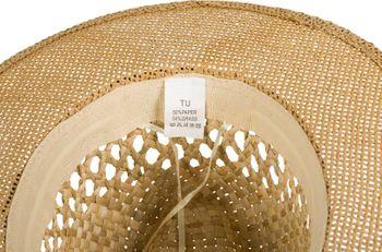 styleBREAKER Unisex Panama Strohhut mit breitem Stoff Zierband, Sommerhut Einfarbig , Papierhut, Sonnenhut 04025028