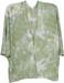 styleBREAKER Damen Feinstrick Cardigan Weste mit Batik Muster, 3/4 Ärmel, vorne offen, Strand, Festival, Kimono 08010080