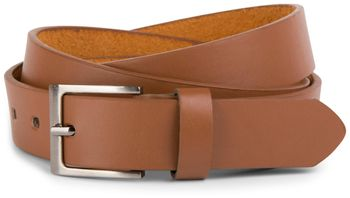 styleBREAKER simple leather belt in narrow design, shortened 03010034 – Bild 3