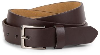 styleBREAKER simple leather belt in narrow design, shortened 03010034 – Bild 1