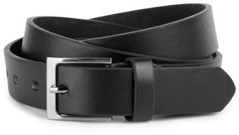 styleBREAKER simple leather belt in narrow design, shortened 03010034 – Bild 2