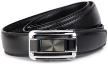 styleBREAKER Men's real leather belt automatic closure, robust design, shortened 03010033 – Bild 3