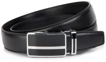 styleBREAKER Men's real leather belt automatic closure, robust design, shortened 03010033 – Bild 4