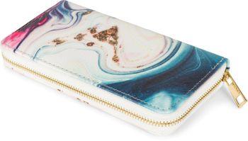 styleBREAKER Damen Geldbörse mit Marmor Muster, Reißverschluss, Portemonnaie 02040152