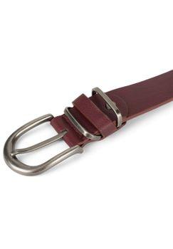 styleBREAKER Unisex Gürtel Unifarben mit Metall an der Gürtelschlaufe, Kunstleder Einfarbig, Hüftgürtel, kürzbar 03010123