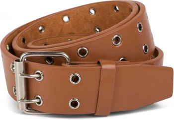 styleBREAKER hole studded belt with genuine leather, two rows, shortened 03010011 – Bild 1