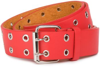 styleBREAKER hole studded belt with genuine leather, two rows, shortened 03010011 – Bild 3