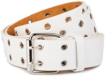 styleBREAKER hole studded belt with genuine leather, two rows, shortened 03010011 – Bild 5