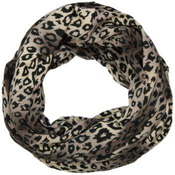 styleBREAKER fine knitting leopard print loop tube scarf, leo scarf 01012009 – Bild 2