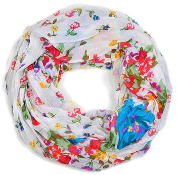 styleBREAKER Loop Schlauchschal mit Blumen Print, Damen 01014012 – Bild 7