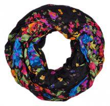 styleBREAKER Loop Schlauchschal mit Blumen Print, Damen 01014012 – Bild 9