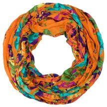 styleBREAKER loop tube scarf with flower print 01014012 – Bild 4