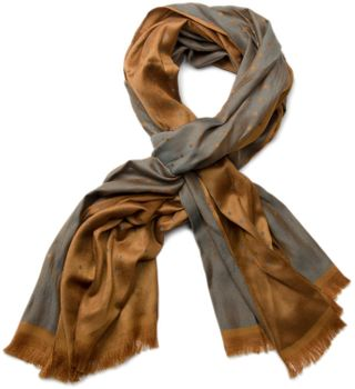 styleBREAKER noble soft scarf with fringe and discreet squares pattern 01018051 – Bild 2