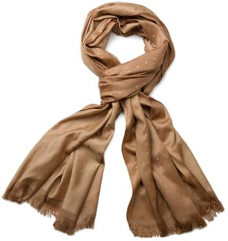 styleBREAKER noble soft scarf with fringe and discreet squares pattern 01018051 – Bild 3