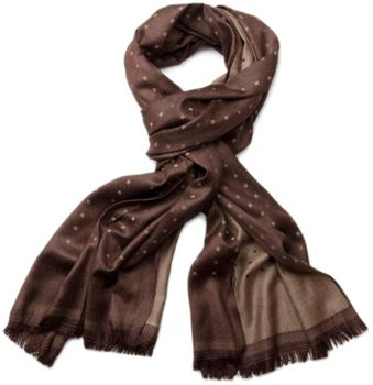 styleBREAKER noble soft scarf with fringe and discreet squares pattern 01018051 – Bild 4