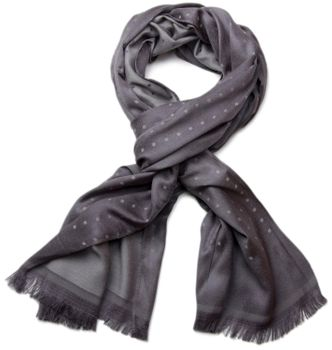 styleBREAKER noble soft scarf with fringe and discreet squares pattern 01018051 – Bild 5
