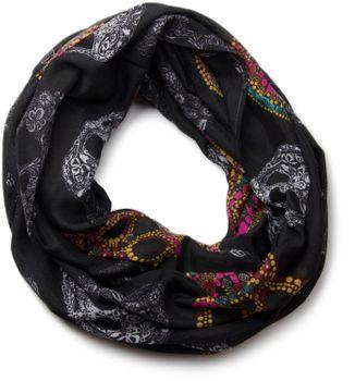 styleBREAKER Mexico Style Totenkopf Skull Muster Loop Schlauchschal 01018055 – Bild 1