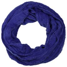 styleBREAKER knitted loop tube scarf with lace pattern, diamonds and ribbed 01018104 – Bild 1