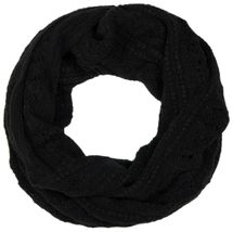 styleBREAKER knitted loop tube scarf with lace pattern, diamonds and ribbed 01018104 – Bild 9
