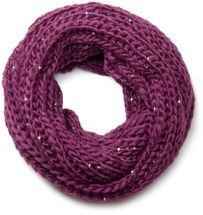 styleBREAKER classic chunky knit loop tube scarf with sequins and glitter threads 01018128 – Bild 13