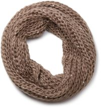styleBREAKER classic chunky knit loop tube scarf with sequins and glitter threads 01018128 – Bild 3