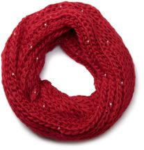 styleBREAKER classic chunky knit loop tube scarf with sequins and glitter threads 01018128 – Bild 7
