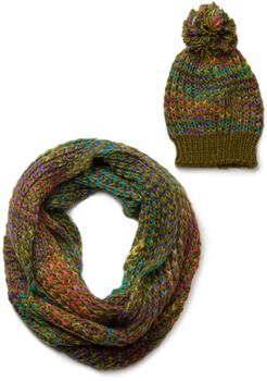 styleBREAKER scarf and hat combo set, colorful chunky knit tube scarf and knitting beanie, unisex 01018201 – Bild 10