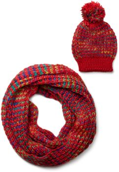 styleBREAKER scarf and hat combo set, colorful chunky knit tube scarf and knitting beanie, unisex 01018201 – Bild 4