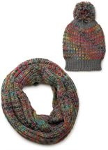 styleBREAKER scarf and hat combo set, colorful chunky knit tube scarf and knitting beanie, unisex 01018201 – Bild 16