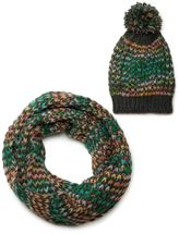 styleBREAKER scarf and hat combo set, colorful chunky knit tube scarf and knitting beanie, unisex 01018201 – Bild 25