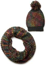 styleBREAKER scarf and hat combo set, colorful chunky knit tube scarf and knitting beanie, unisex 01018201 – Bild 22