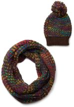 styleBREAKER scarf and hat combo set, colorful chunky knit tube scarf and knitting beanie, unisex 01018201 – Bild 1