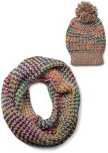 styleBREAKER scarf and hat combo set, colorful chunky knit tube scarf and knitting beanie, unisex 01018201 – Bild 7