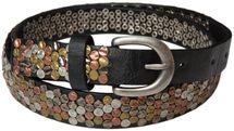 styleBREAKER Nietengürtel mit mehrfarbigen Nieten im Vintage Style , kürzbar, schmal 03010012 – Bild 1