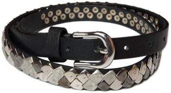 styleBREAKER square studded belt in vintage style, shortened 03010014 – Bild 8