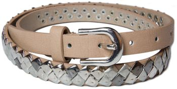 styleBREAKER square studded belt in vintage style, shortened 03010014 – Bild 5