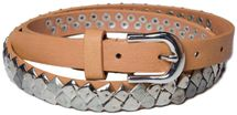 styleBREAKER square studded belt in vintage style, shortened 03010014 – Bild 1