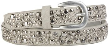 styleBREAKER studded belt in vintage style, narrow ladies belt with studs and rhinestones, shortened 03010021 – Bild 2