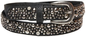 styleBREAKER studded belt in vintage style, narrow ladies belt with studs and rhinestones, shortened 03010021 – Bild 10