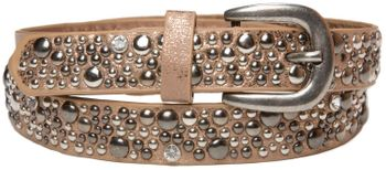 styleBREAKER studded belt in vintage style, narrow ladies belt with studs and rhinestones, shortened 03010021 – Bild 1