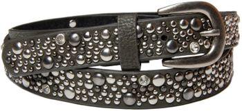 styleBREAKER Nietengürtel im Vintage Style, schmaler Damen Gürtel mit Nieten und Strass, kürzbar 03010021 – Bild 7